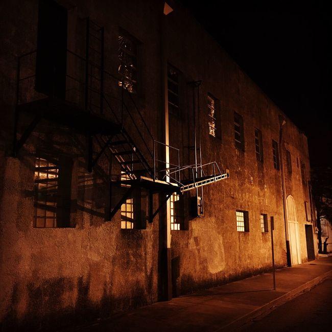 Off Dauphin Street - Mobile, AL - 01/2016 First Eyeem Photo Night Walk Dauphin Street Mobile Alabama  Building Building Exterior Night Shades Brick Building