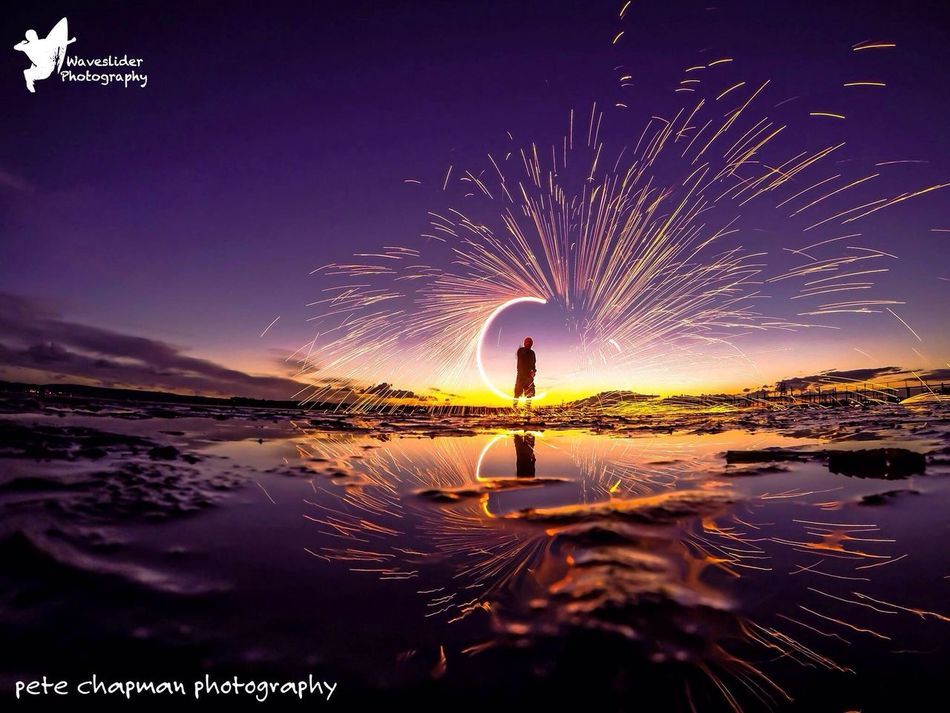 Poole Harbour Steel Wool Spinning Collaberation