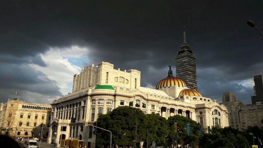 Tower Mexico City Bellas Artes sky Sky And Clouds