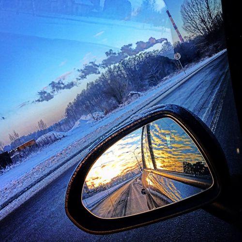 Morning Winter Cold Temperature Car Outdoors Nature Poland Polska