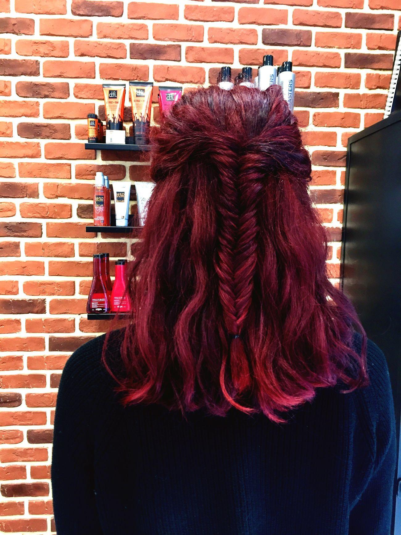 Kris tressée Brick Wall Braided Hair Red Hair