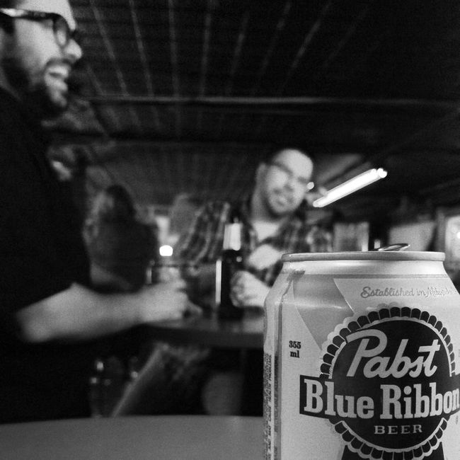 Pabst Blue Ribbon People Bars And Restaurants Black And White
