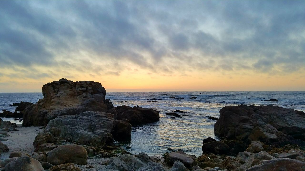 Beautiful Nature Rocks Pacific Ocean Ocean Sunset California Coast Beautiful Pacific Grove, Ca Myhappyplace My Perspective Livelaughlove♡