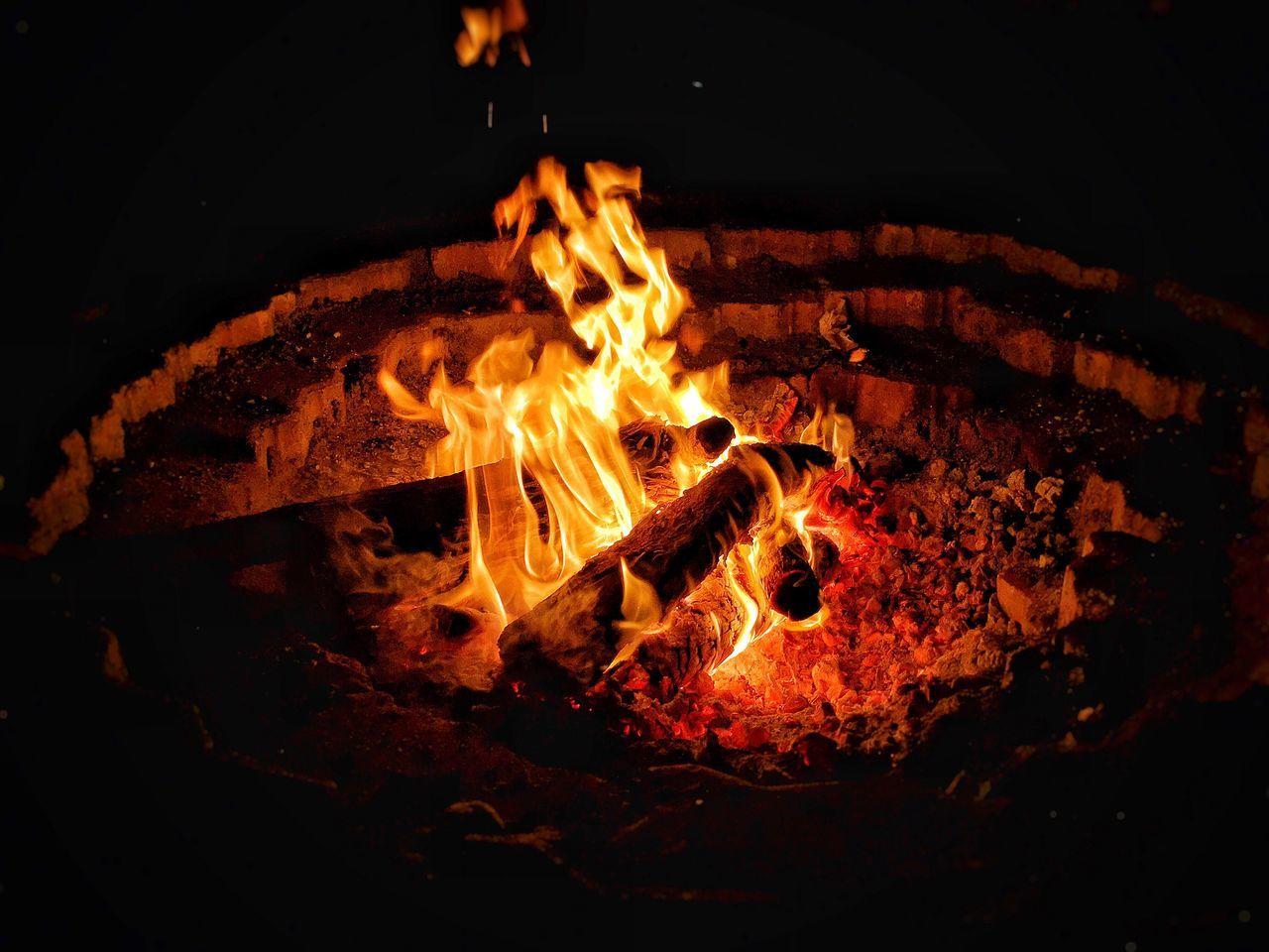 Flame Night Burning Heat - Temperature No People Bonfire Illuminated Close-up Nature Outdoors Fire UAE Dubai Desert