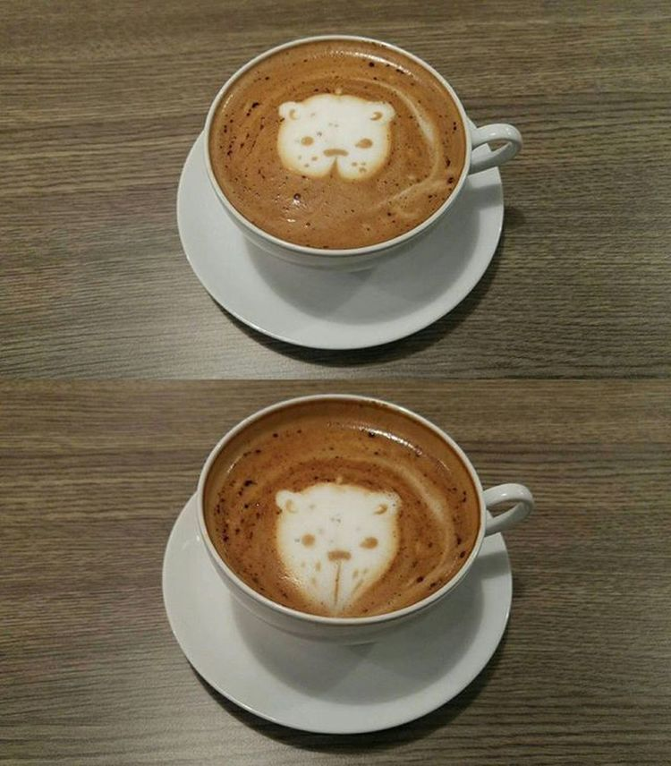 Kawaii kuma... after the first sip, it became hamster 😂😂😂 coffee Coffeetime Mochaccino Coffeesesh Lcbbandung Val  2016 LG  G4 LGG4 ☕ 😚