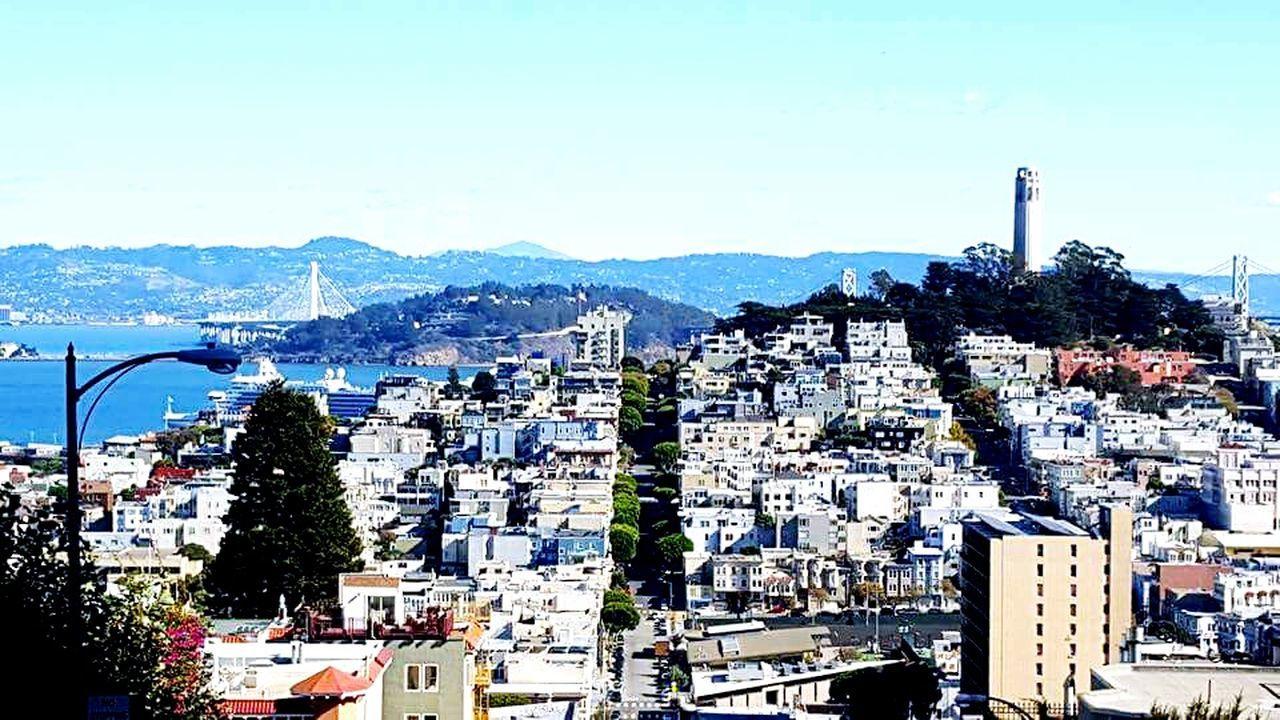 Clear Sky Travel Destinations Sea Outdoors City Life San Francisco Bay Bridge San Francisco