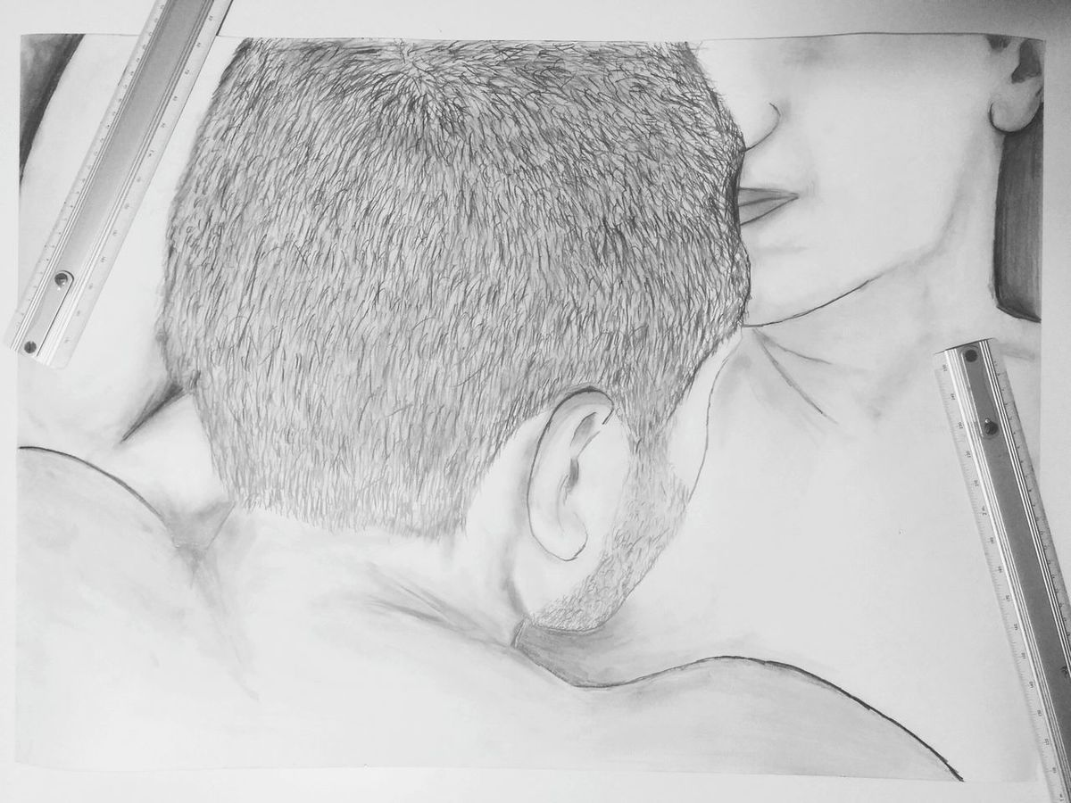 Graphite Staedtler 2B Pencil Black&white Drawing