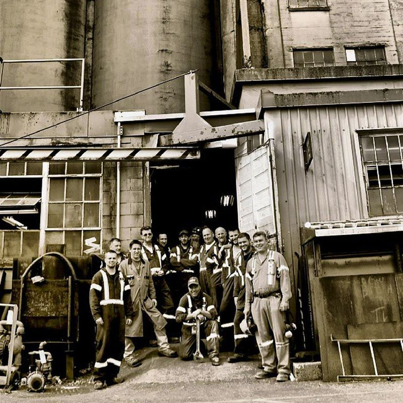 13 of my Union Brothers. Tried to organize a huge group photo but only these guys showed. Thanks guys! GWU Grainworkersunionlocal333 Vancouverport