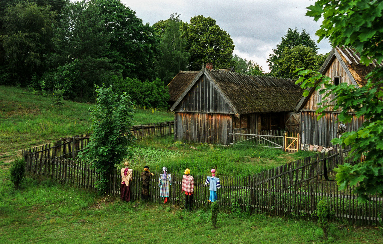 Agricultural Building Agriculture Analogue Photography Beauty In Nature Folk Folk Village Folklore Poland Is Beautiful Scarecrow