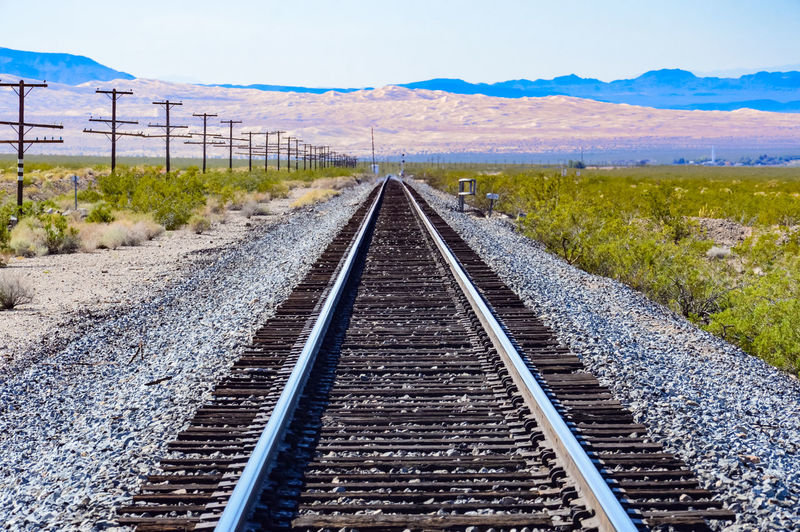 Beauty In Nature Day Diminishing Perspective Landscape Nature No People Outdoors Rail Transportation Railroad Tie Railroad Track Scenics Sky The Way Forward Transportation