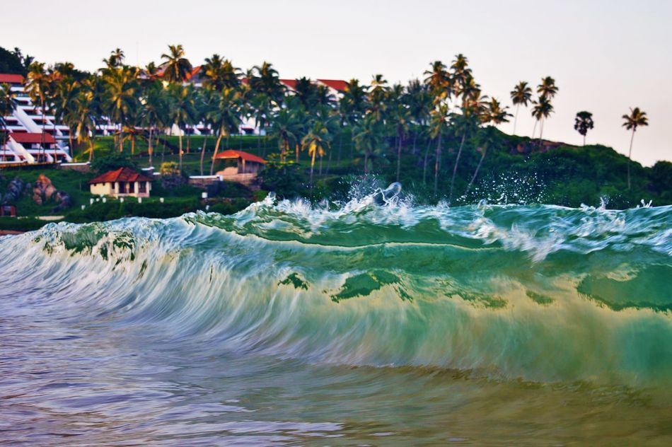 At beach, capturing waves First Eyeem Photo