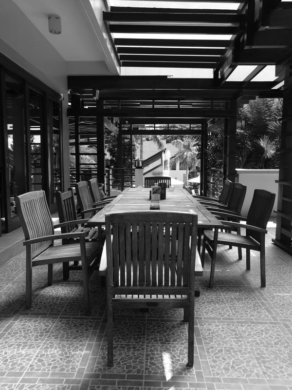 Chair Table Wood - Material No People Vertical Day HuaweiP9plus Monochrome Photography