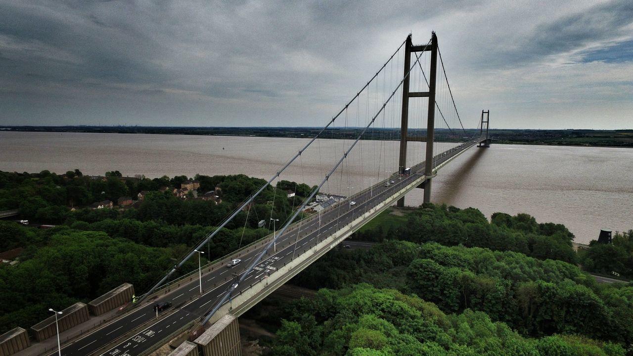 Bridge - Man Made Structure Connection Suspension Bridge Engineering Built Structure Architecture Transportation Cloud - Sky Landscape Water Steel