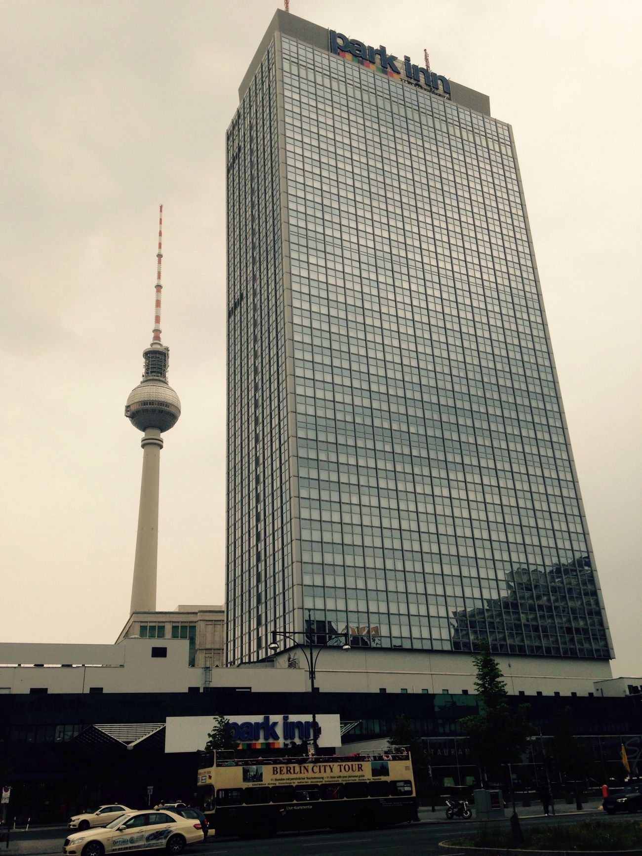 Berlin 's tallest building/ Hotel with Fernsehturm in the background. I ❤ BERLIN My Fuckin Berlin Berliner Ansichten Berlin Mitte My Berlin