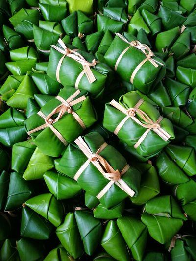 Khao Tom Mud Thai Snack Sticky Rice With Banana Stream