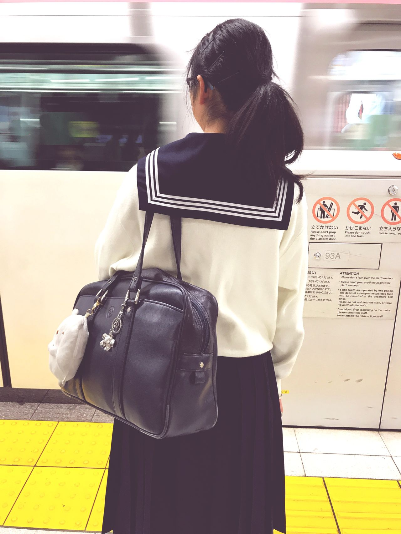 Rear View Real People Bag One Person Lifestyles Casual Clothing Standing Public Transportation Backpack Purse Journey Women Railroad Station Transportation Travel Luggage Indoors  Subway Train Day Technology Metro Metropolitan Metro Station Japan EyeEmNewHere
