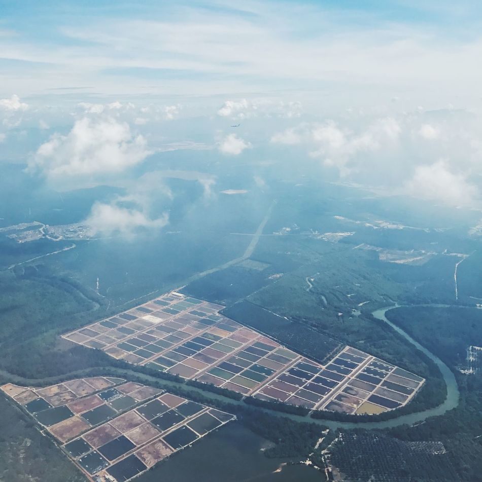 Aerial View Alternative Energy Beauty In Nature Cloud - Sky Day Fuel And Power Generation Landscape Mountain Nature No People Outdoors Scenics Sky Solar Energy Solar Panel Water
