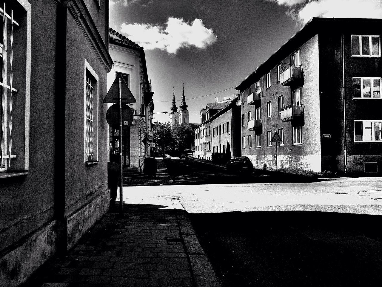 Blackandwhite Urban Geometry Light And Shadow Landscape streets of ostrava city :)