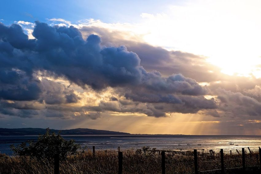 Beauty In Nature Cloud - Sky Dramatic Sky Dramatic Sky England England🇬🇧 Nature Sea Sunbeam Sunset Wirralcountrypark