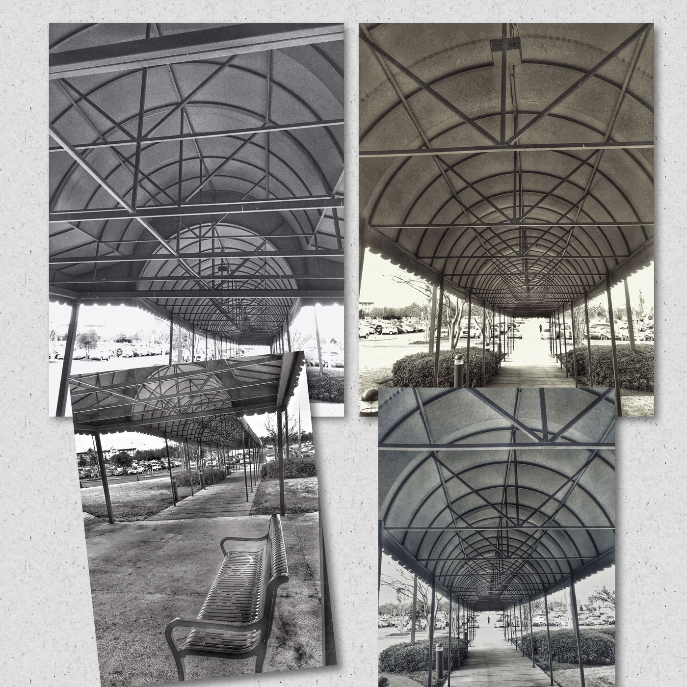 Collage: Beneath an Awning. Hollywoodcasino Monochrome Blackandwhite Robinsonvillems Monochromatic Tunicams
