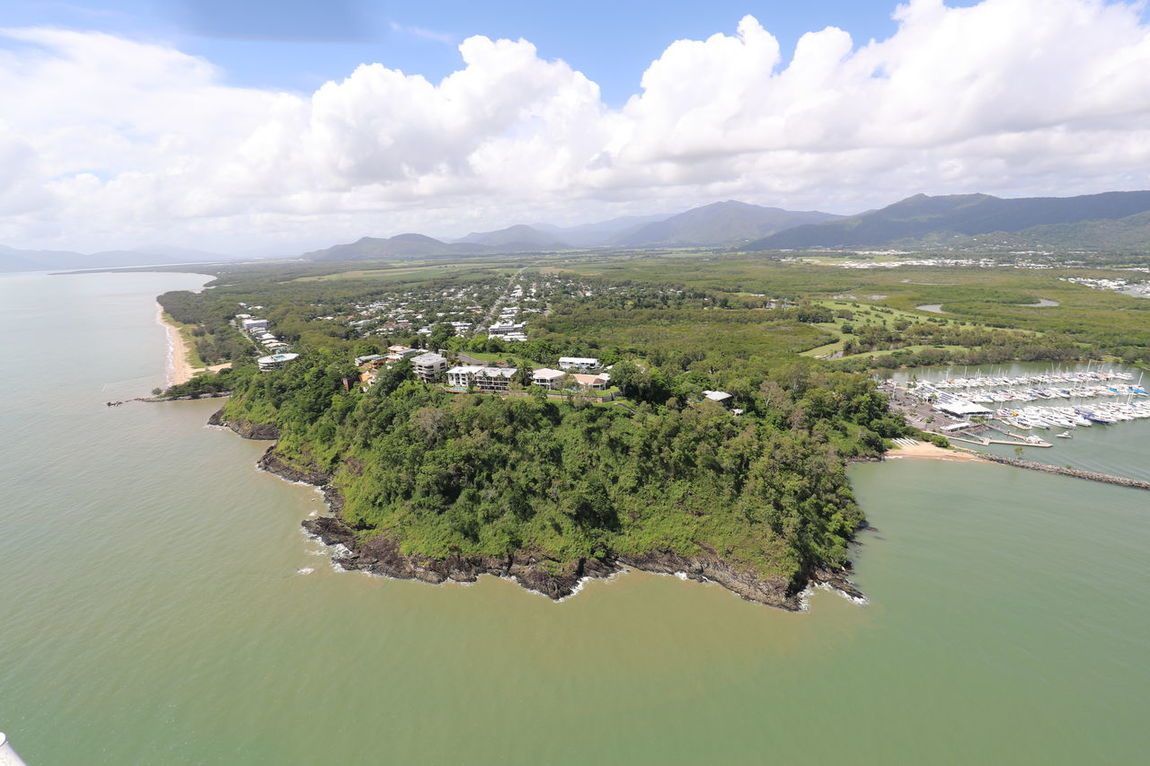 Aerial View Beach Cloud - Sky Coastline Day Mountain No People North Queensland Outdoors Peninsula Scenics Sea Tourism Travel Destinations Vacations