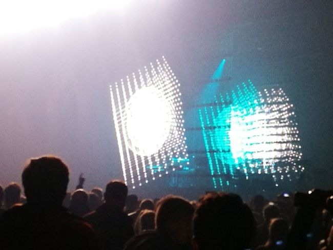 Jean michel jarre Concert Brussels Expo Arts Culture And Entertainment Nightlife Music Performance People Illuminated Large Group Of People Horizontal Silhouette Leisure Activity Night Men Real People Person Technology Sky Adult Crowd