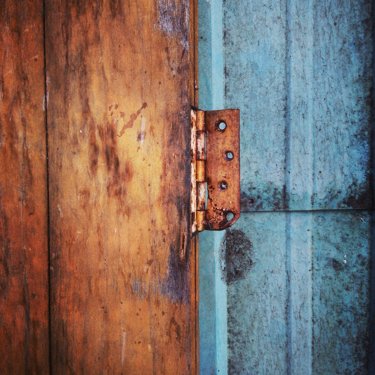 Door Wood - Material Rusty Old Close-up Blue Weathered Full Frame No People Day Vibrant Color Outdoors Metal Structure Metal Bluelight