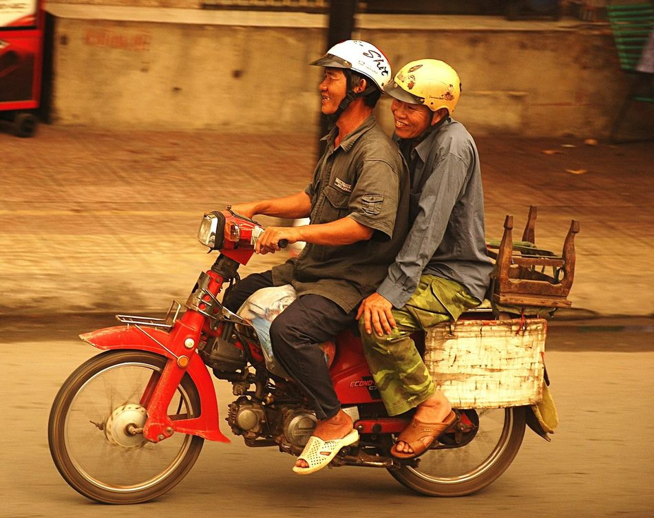 Scooter Laugh revisiting travel pictures, this one was a grab shot through a coach window, I wondered why they were so amused then spotted the helmet art😏 Vietnam Scooter Travel Photography Motorcycle Two People Helmet Art Amused Laughing Faces Last Laugh Happy Bikers Roadside Shots EyeEmNewHere Honda Motorcycle