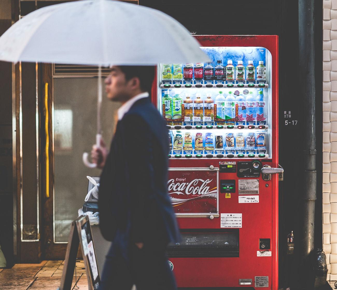 Businessman Tokyo Japan Vending Machine