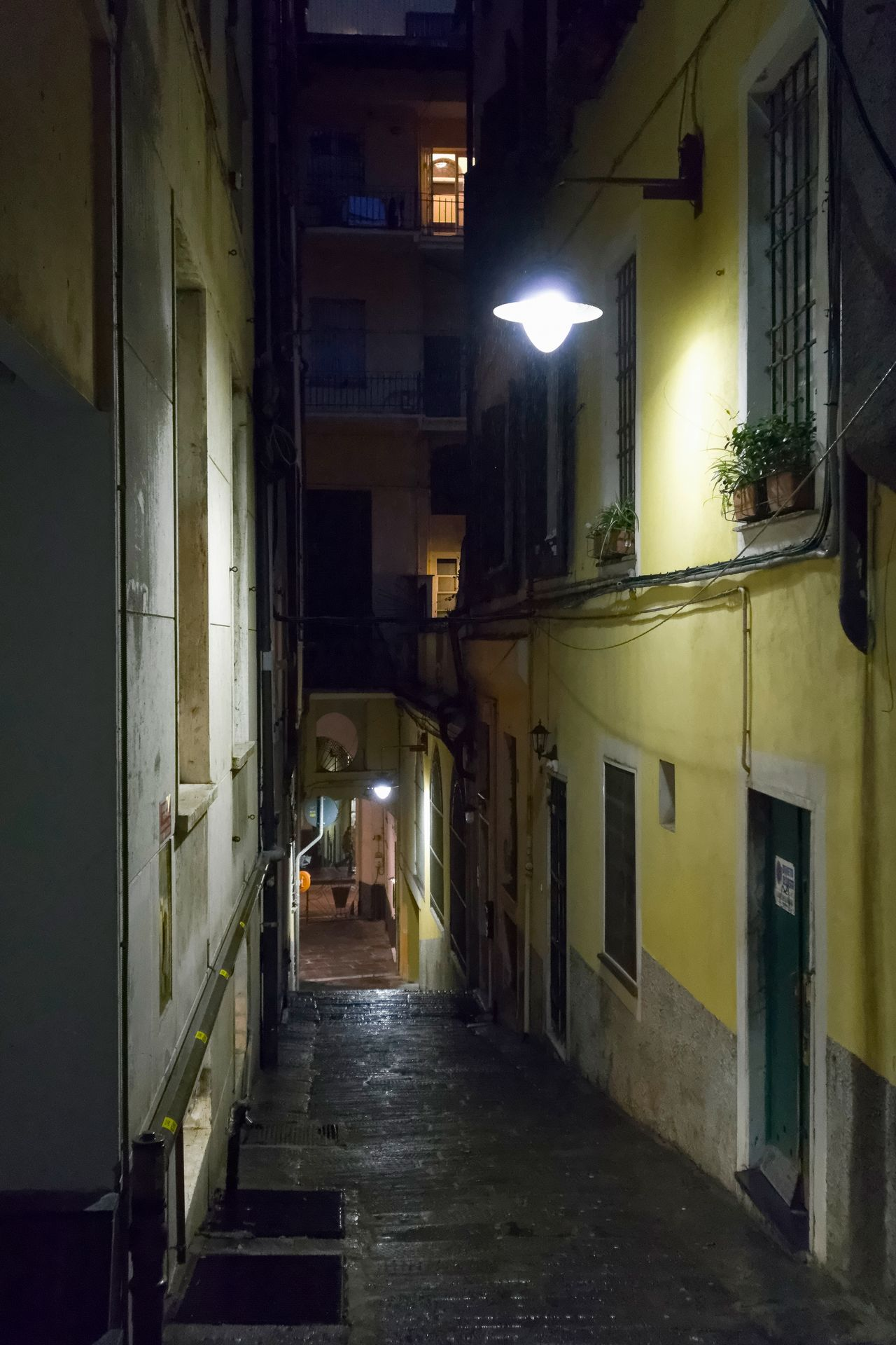 Alley Architecture Building Exterior Built Structure House Illuminated Night No People Outdoors Walkway