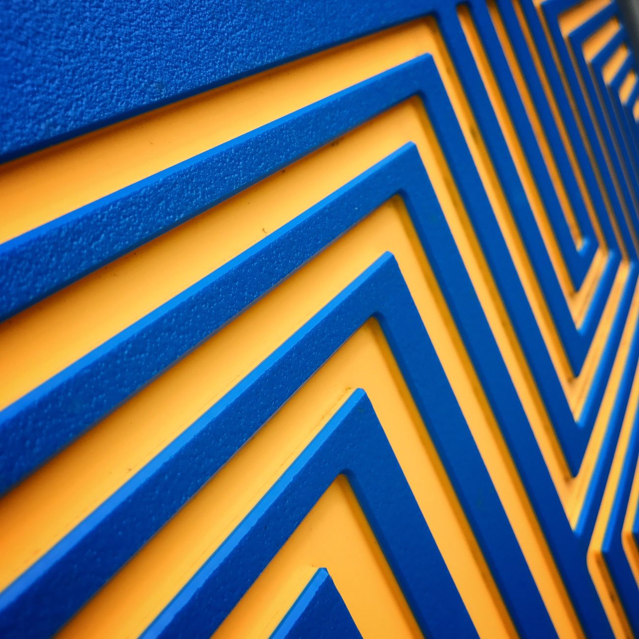 Blue and yellow lines Blue Backgrounds Full Frame No People Yellow Pattern Outdoors Close-up Architecture Day Lines Maths Math Mathematics Background