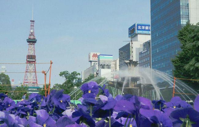 FlowersTaking PhotosOdori Park Sapporo Hokkaido,Japan
