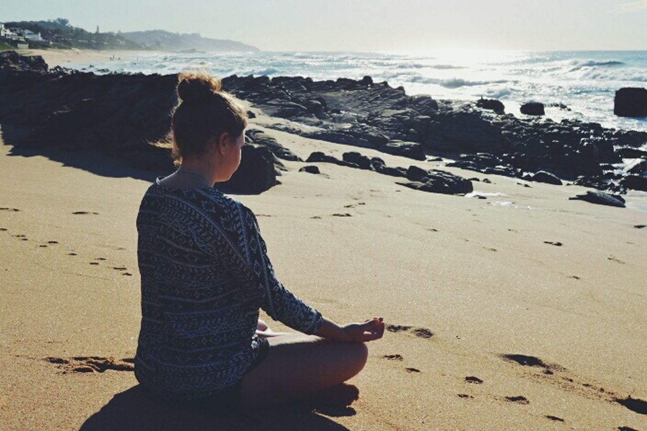 meditating on the beach at sunrise Faces Of Summer Meditation Ballito Durban South Africa Summer Roadtrip Beach What I Value