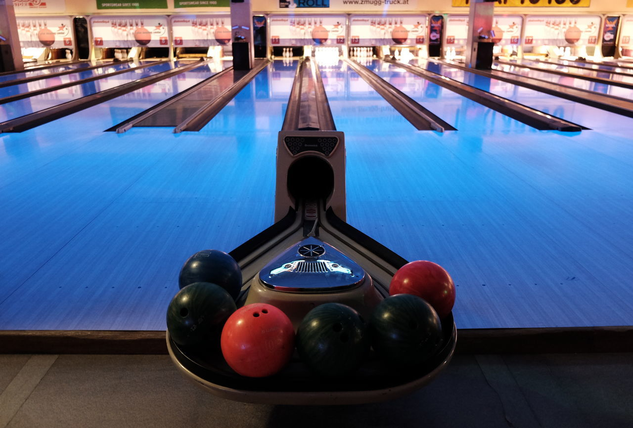 Architecture Balls Bowling Bowling Alley Close-up Day Illuminated Indoors  Indoors  Leisure Activity Nautical Vessel No People Sports Water
