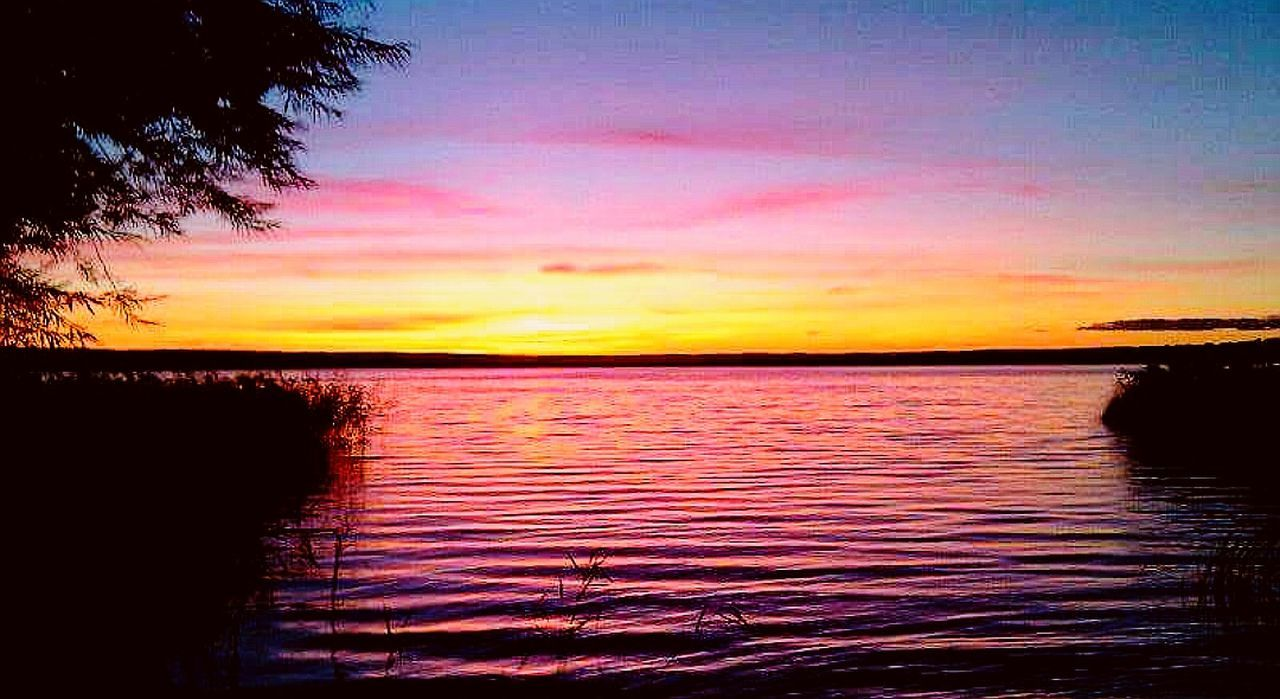 sunset, scenics, tranquil scene, beauty in nature, silhouette, nature, tranquility, reflection, sky, no people, water, outdoors, landscape, lake, tree, day
