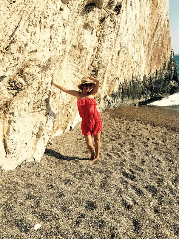 Cyprus Rock Standing Traveling Vacations Beach Beachphotography Full Length Nature One Person Outdoors Rock - Object Sand Travel Destinations Young Women