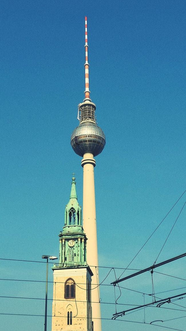 Berlin New And Old Church Tower