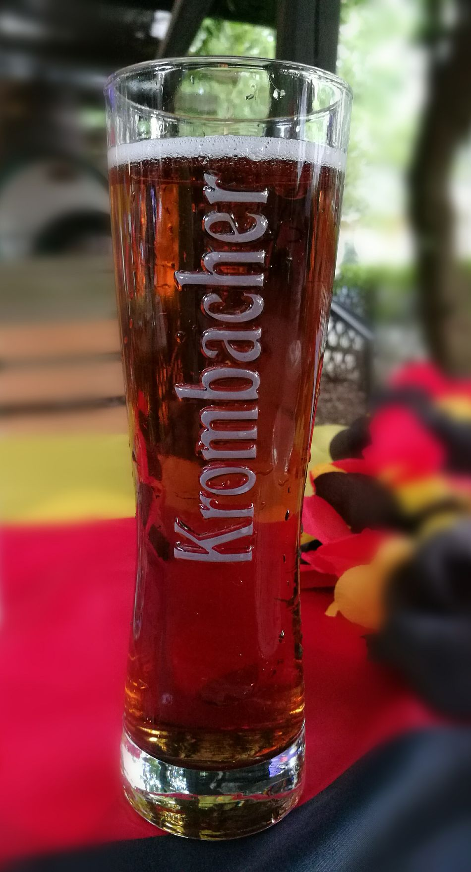 Drink Time Glass Krombacher German Party Time Black Red Gold Berlin Restaurant Beer Garden Beer Glass The Innovator