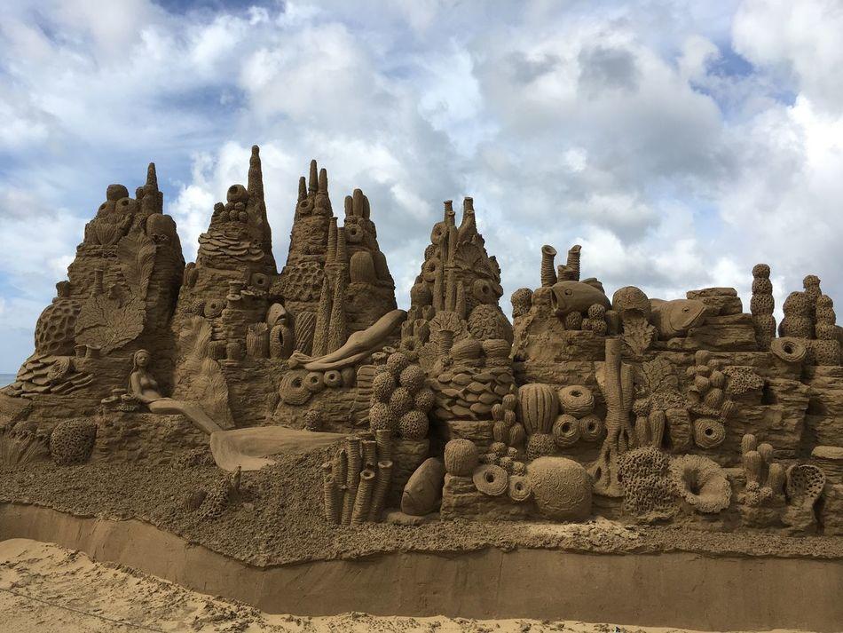 海邊 沙雕展 Sand Seashore Sunlight Clouds