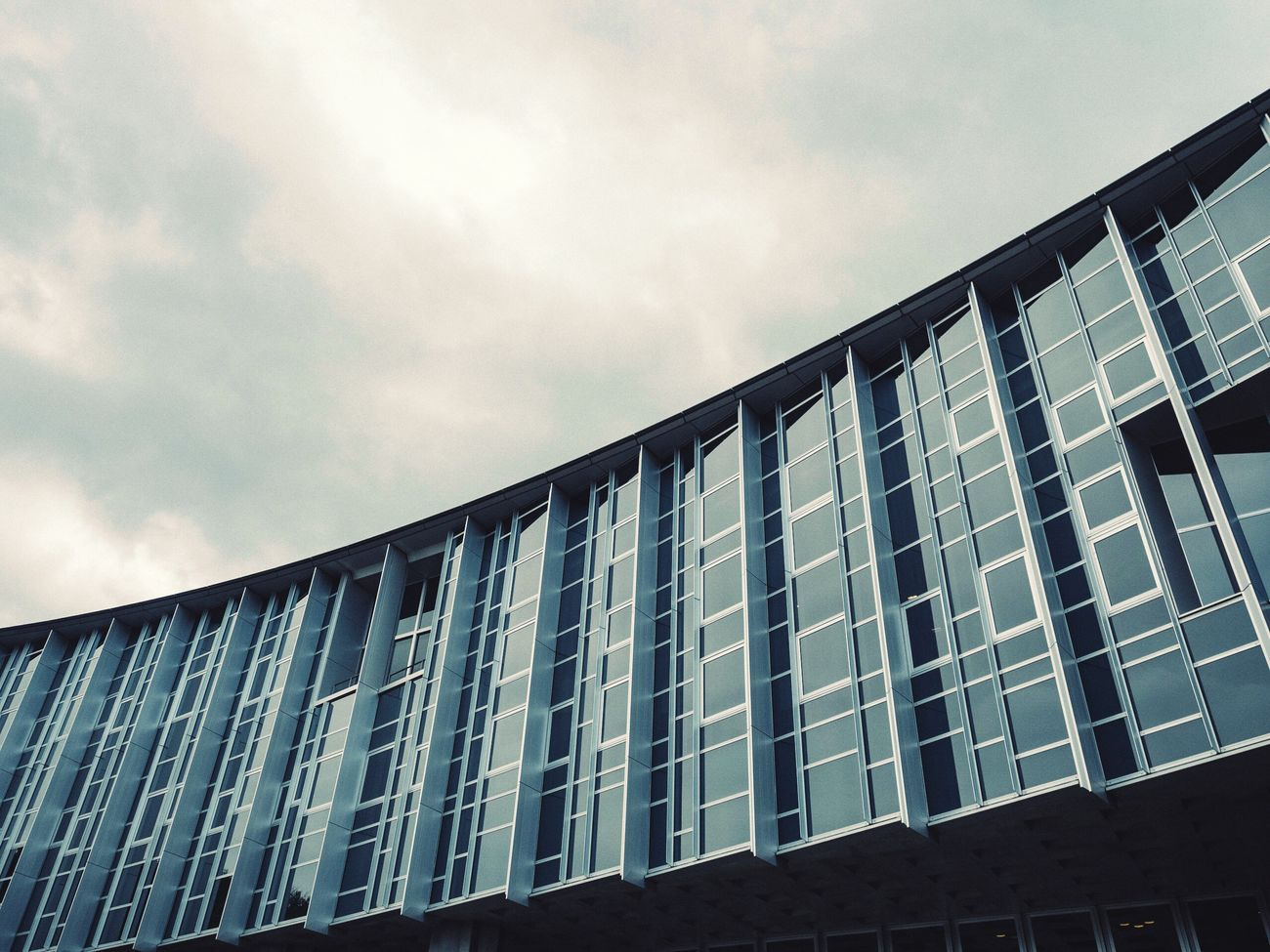 Miyagi University Architecture Architecture_collection Building Exterior Built Structure Modern Architecture Low Angle View Capture The Moment Travel Photography From My Point Of View Modern Architecture Façade Windows Sky And Building Buildings & Sky Lookingup