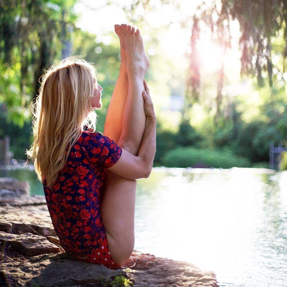 Beautiful stock photos of yoga, 45-49 Years, Beautiful Woman, Blond Hair, Caucasian Ethnicity