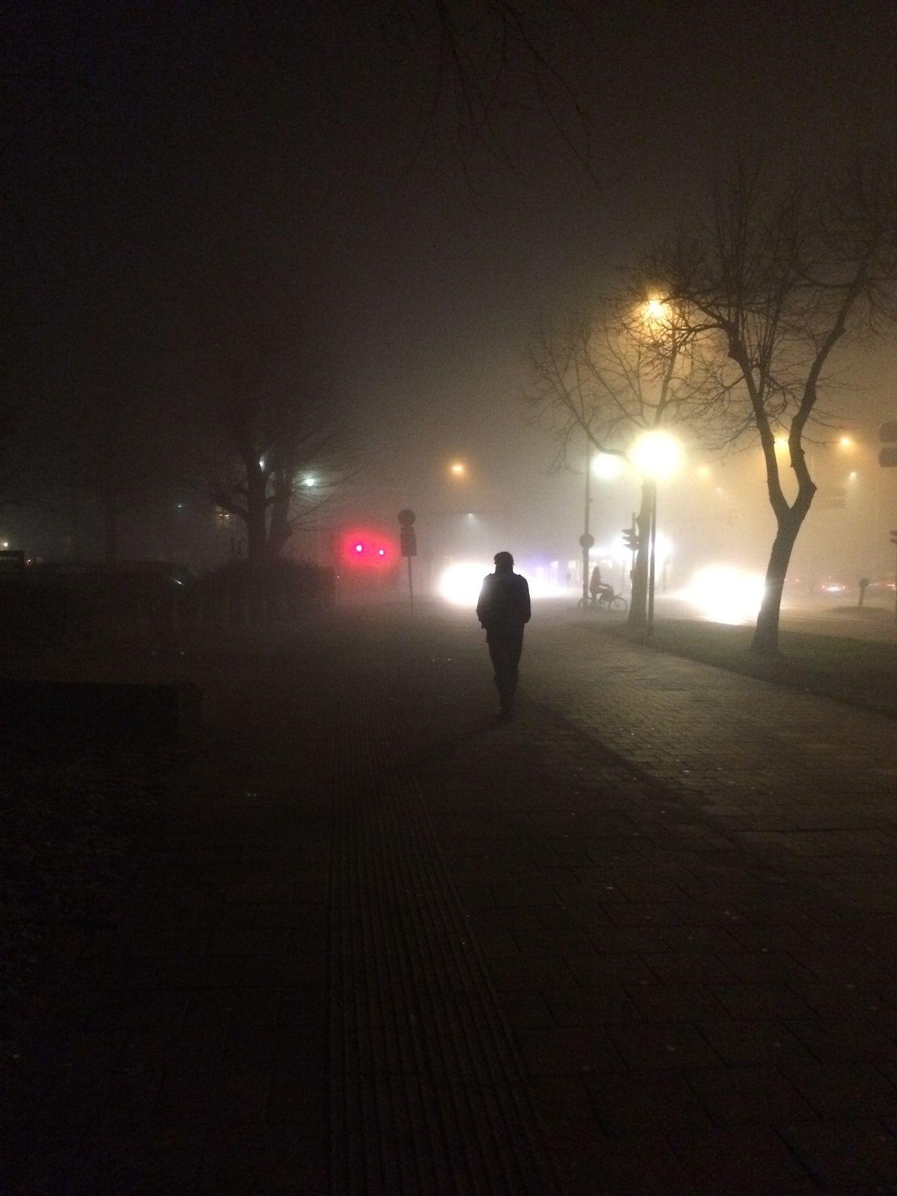Streetphotography Streetlights Going Home EyeEm Gallery Iphoneonly Nightphotography Fog Light In The Darkness One Person Walking On The Street Silhouette The Street Photographer - 2017 EyeEm Awards