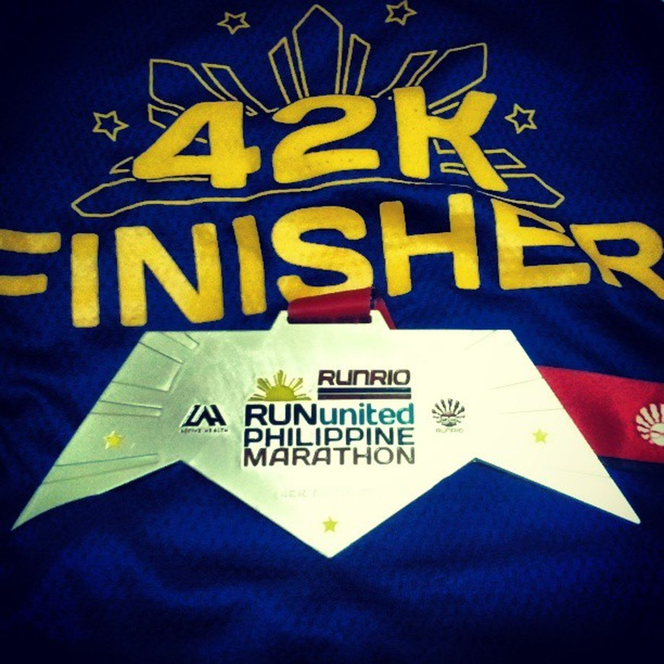 Finished my 2nd marathon RUPM Runrio 42km