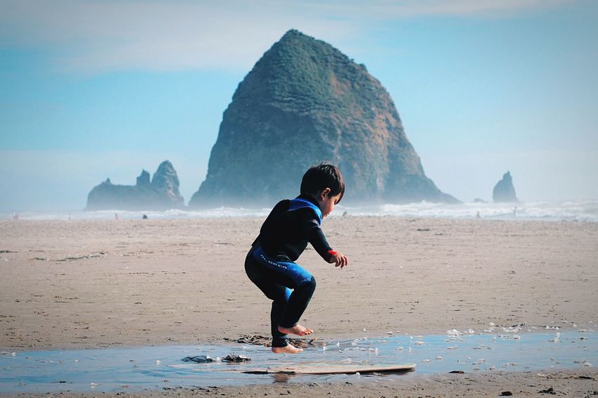 The Amazing Human Body Surfer Son Cannon Beach Oregon Portraits Jump