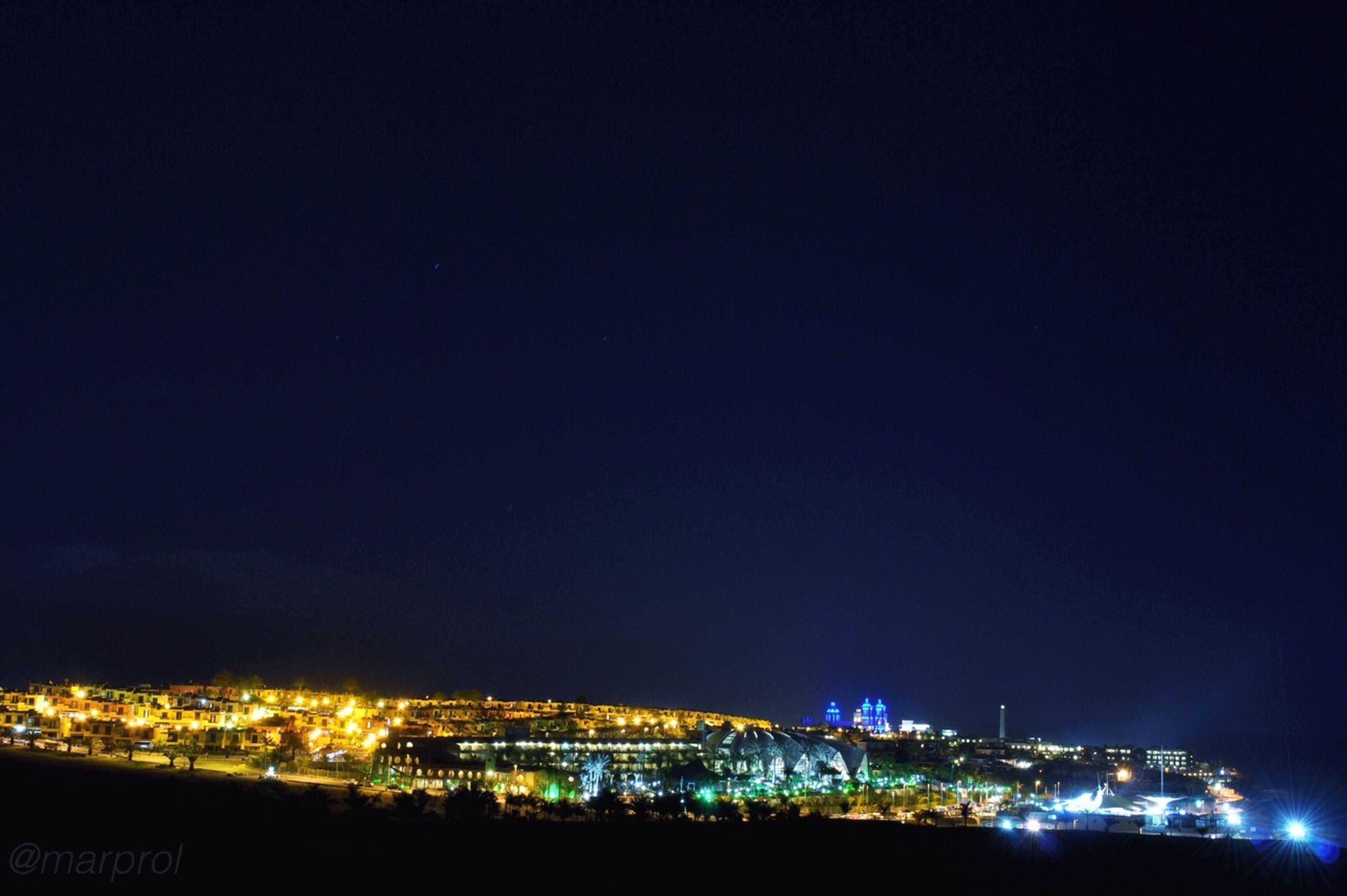 Night Blue Night Lights Long Exposure