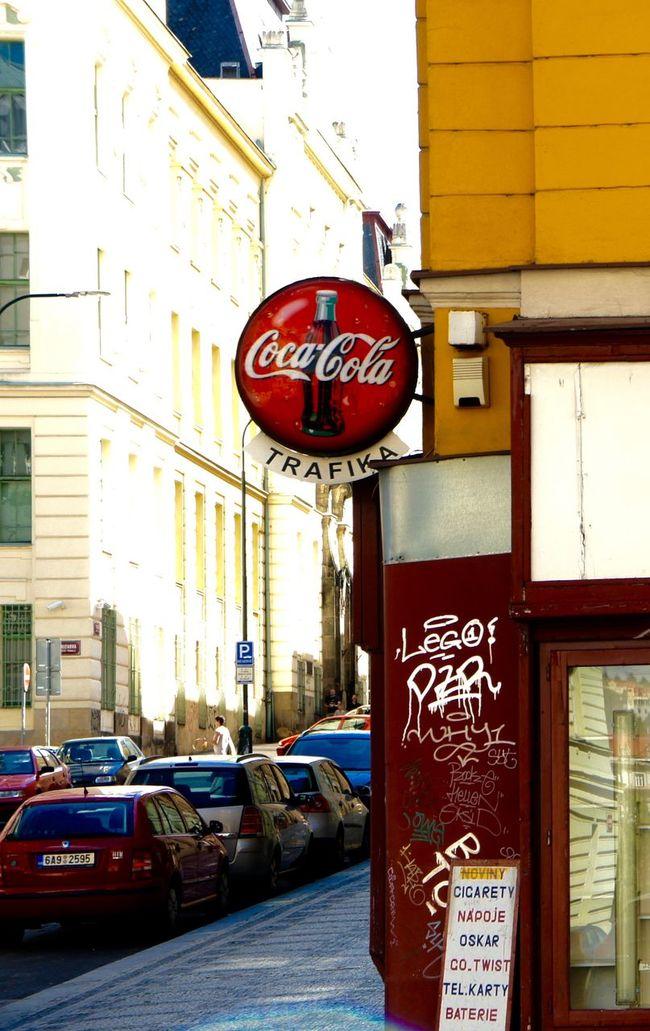 #City #cityscapes #coca Cola #graffity #minimarke #old Building #Prague #street #urban