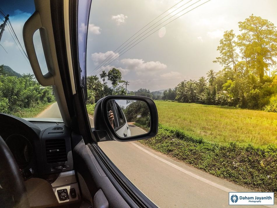 Gopro Vehicle Interior GoPrography Goprophotography_ Car Transportation Car Interior Windshield Dashboard Day Cloud - Sky Land Vehicle No People Nature Road Sky Tree Outdoors Close-up