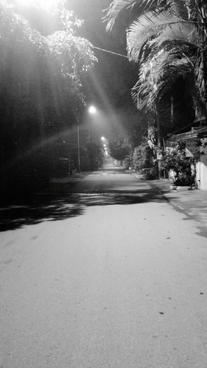 snow, road, illuminated, winter, street, nature, cold temperature, night, outdoors, the way forward, no people, tree, sky