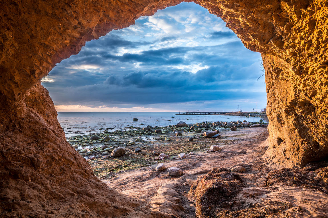 2016_03_PoelIsland_DE Baltic Baltic Sea Cave Cliff Golden Hour Insel Poel Landscape Photography Landscape_Collection Landscape_photography Nature's Diversities Rock Formation Sea Sunset The Essence Of Summer The Great Outdoors With Adobe Timmendorf Wismar