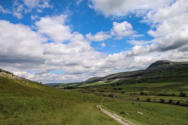 """As Alfred Wainwright said: """"There's no such thing as bad weather, only unsuitable clothing."""" Yorkshire Dales Landscape Countryside Thankful for fine weather that day."""